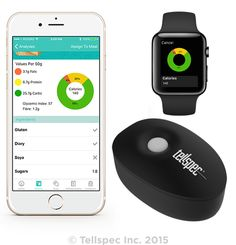 The Tellspec Food Sensor consumer handled device scans food at a molecular level. It includes a 3 part system: a pocket-sized sensor, a cloud-based analysis engine, & a mobile app together to scan foods, identify calories, macronutrients, allergens, fiber, sugars, & also provide relevant nutritional information such as the glycemic index, with one simple scan. However, if you are concerned about avoiding certain allergens, or getting information about ingredients not present on the food…