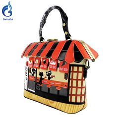 Cut cat house Handbag Sushi Style Retro Handmade Bolsa Feminina PUFor cartoon Like if you remember #shop #beauty #Woman's fashion #Products #homemade