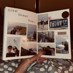 Senior Year Scrapbook, Couple Scrapbook, Scrapbook Journal, Travel Scrapbook, Bullet Journal Writing, Bullet Journal Ideas Pages, Photo Album Scrapbooking, Scrapbook Albums, Cute Boyfriend Gifts