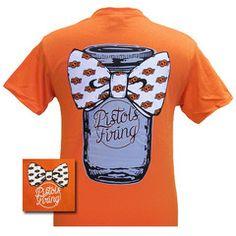 OSU Oklahoma State Cowboys Mason Jar Big Bow Girlie Bright T Shirt | SimplyCuteTees