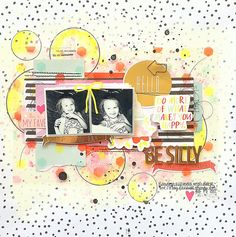 My Scraps & More DT Project - Sketch #110 designed by Juliana Michaels - American Crafts Dear Lizzy Fine & Dandy collection.