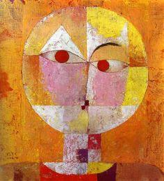 "Paul Klee ""Senecio"" (old man).  Abstract Impressionism.  Oil.  1922. Museum in Basil, Switzerland."