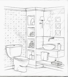 36 Ideas for bathroom interior design sketch : 36 Ideas for bathroom interior d. interior sketch 36 Ideas for bathroom interior design sketch : 36 Ideas for bathroom interior d. Interior Architecture Drawing, Drawing Interior, Interior Design Sketches, Office Interior Design, Bathroom Interior Design, Home Interior, Living Room Interior, Architecture Design, Classical Architecture