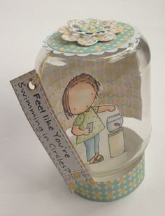 card in barattolo - card in a jar Diy And Crafts, Paper Crafts, Bee Creative, Exploding Boxes, Craft Materials, Big Shot, Homemade Cards, Paper Art, Art Drawings