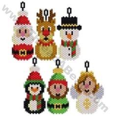 Santa and Friends Pendant Bead Pattern By ThreadABead