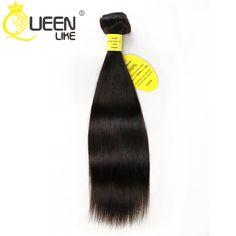 1 Bundle Brazilian Virgin Hair Straight Fast Free Shipping Natural Black Queen Like Hair 100% Human Brazilian Hair Weave Bundles