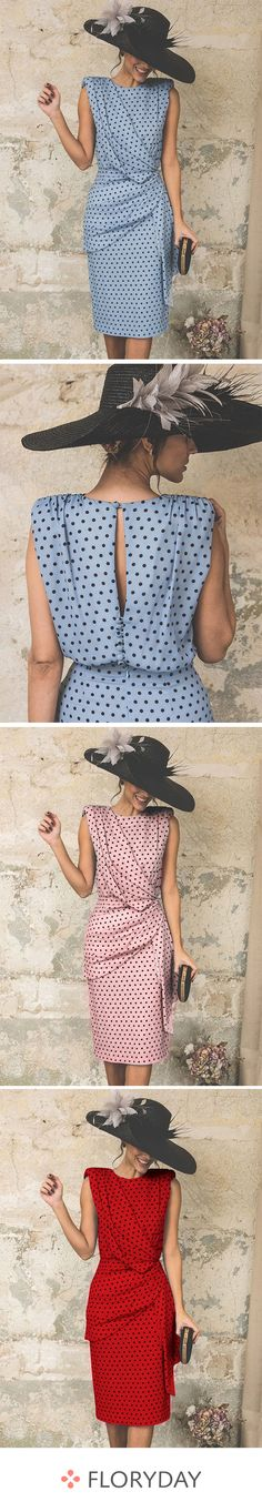 Sleeveless spotted shift dress- Ärmelloses gepunktetes Etuikleid Live your best life with this elegant dress. Cute Outfits With Jeans, Cute Outfits For School, Casual Fall Outfits, Stylish Dresses, Elegant Dresses, Leather Leggings Look, French Outfit, Cheap Evening Dresses, Crop Top And Shorts