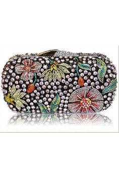 Judith Leiber Inlay Crystal Cocktail Party Clutch