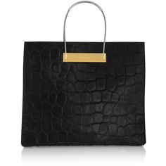 Balenciaga Cable embossed calf hair tote (€1.965) ❤ liked on Polyvore featuring bags, handbags, tote bags, bolsa, balenciaga handbags, structured tote bag, balenciaga tote, croc embossed tote and balenciaga tote bag