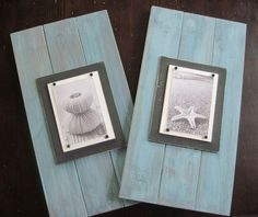 2 Long Turquoise  Plank Frames for 4x6 10.5X20. http://www.etsy.com/listing/71793696/set-of-2-long-turquoise-plank-frames-for