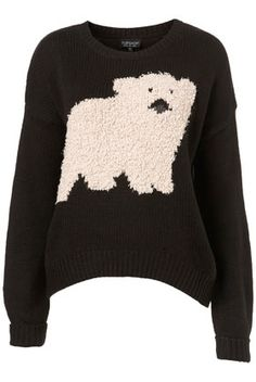 Omg. I love this! Look at the cute fluffy polar bear! Oversized jumper from Topshop!