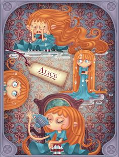 Alice In Wonderland by Miklos Weigert, via Behance