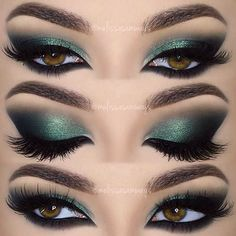 A smokey eye look is a perfect suggestion for any occasion. Whether you want to look mysterious and feminine or simple and elegant – there is always a way! A brown eye color is one of the best due to its ability to go together with any color. You do not need to choose between warm or cold shades! #makeup #makeuplover #makeupjunkie #eyemakeup #forbrowneyes