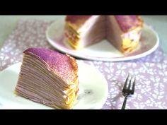 How to make Purple Mille Crepe 紫ミルクレープの作り方【スイーツレシピ】