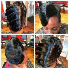 1000 Images About African American Hair Styles On Exotic French Roll Styles for Black Hair Black Hair Updo Hairstyles, My Hairstyle, Black Girls Hairstyles, Braided Hairstyles, Protective Hairstyles, Protective Styles, Hairstyle Ideas, French Roll Hairstyle, French Twist Hair