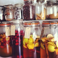 Making the most of seasonal fruits, Apple brandy, plum vodka and damson gin Plum Vodka, Seasonal Fruits, Apple Brandy, Fruit In Season, Gin, Mason Jars, How To Make, Food, Essen