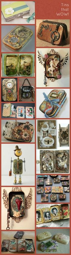 A Beautiful Little Life: ReUse Altoids Tins! Crafty Fun Ideas for the Kids! Altered Tins, Altered Bottles, Tin Can Crafts, Arts And Crafts, Shadow Box, Diy Projects To Try, Craft Projects, Mint Tins, Pom Poms