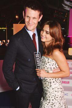 Matt Smith and Jenna Coleman at the Glamour Awards.