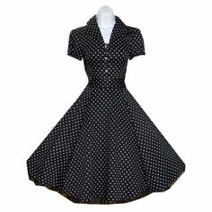 Today I'm enjoying browsing through the retro vintage styled dresses of  Hearts & Roses London . Surely I need one of these for dark summer ...