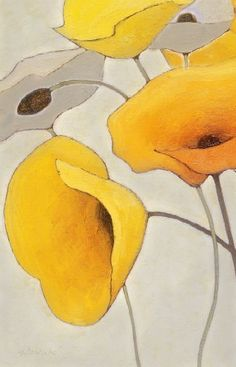 "bellasecretgarden: ""Mohn Shirley Novak"" bellasecretgarden: Mohn Shirley Novak The post bellasecretgarden: ""Mohn Shirley Novak"" appeared first on Blumen ideen. Yellow Art, Yellow Painting, Silk Painting, Painting & Drawing, Acrylic Art, Botanical Art, Painting Techniques, Painting Inspiration, Art Paintings"