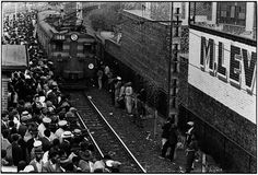 Ernest Cole Africans throng Johannesburg station platform during late afternoon rush Gelatin silver print Dr Marcus, Africa People, African Babies, Apartheid, Outside World, Documentary Photography, African History, Photojournalism, South Africa