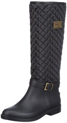 Zapatos de mujer. Giesswein Zirndorf 58/10/41378 - Botas de agua para mujer, color negro