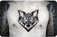 Tattoo - Geometric - Fox