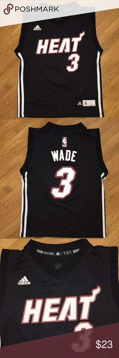 df7e36e8491 Adidas Miami Heat Dwyane Wade  3 Youth Jersey Dwyane Wade  3 Youth Jersey  Vintage