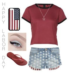 """Happy Labor Day!"" by designer01kitty on Polyvore featuring Tinsel, La Preciosa, Havaianas and Forever 21"