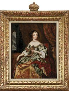 """Designação: """"Dona Catarina de Bragança (1638-1705) - Infanta de Portugal e Rainha de Inglaterra""""  escola portuguesa séc. XVIII"""