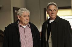 Ralph Waite(Jackson Gibbs) passed away Feb.13, 2014  R.I.P. Ralph Waite and Mark Harmon in NCIS (Photo by Cliff Lipson/CBS via Getty Images)