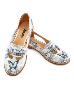 Love this White & Gray Butterfly Loafer on #zulily! #zulilyfinds