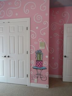 Paris Bedding Theme For Girls | View this great french girls room.....Little girls french theme murals ...