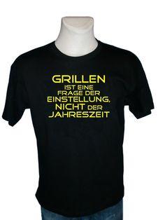 T-Shirt - Grillen ist Einstellungssache von Ketzerei-Shop auf DaWanda.com