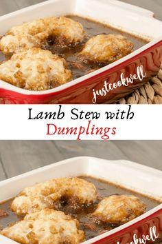 Lamb Stew with Dumplings #Lamb #Stew #with #Dumplings