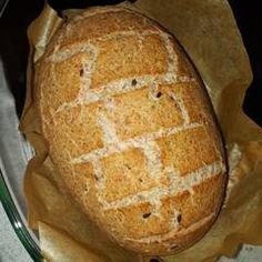 Hűtőben kelt teljes kiőrlésű kenyér   Kovácsné Tóka Renáta receptje - Cookpad receptek Bread, Food, Brot, Essen, Baking, Meals, Breads, Buns, Yemek
