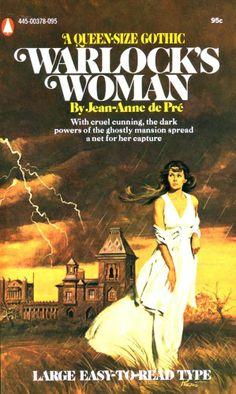 WARLOCK'S WOMAN,Jean-Anne de Pre',Popular Library Gothic,SUPERB Vic Prezio GGA