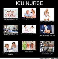 Acertou em cheio. Enfermeira em UTI.