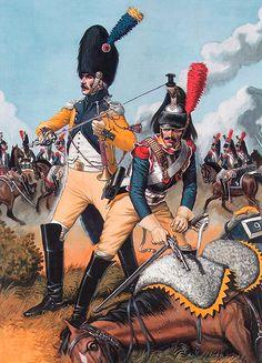 Cuirassier et Trompette du 9ème Régiment, 1806-1807