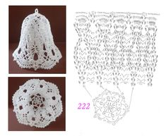222 Crochet Christmas Ornaments, Christmas Crochet Patterns, Holiday Crochet, Handmade Ornaments, Christmas Knitting, Christmas Crafts, Crochet Ball, Diy Crochet, Crochet Doilies