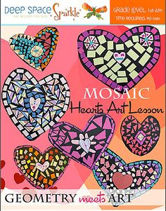 Mosaic Heart Art Lesson Plan: Geometry meets Art