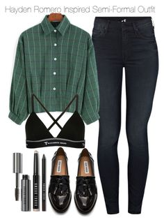 """""""Hayden Romero Inspired Semi-Formal Outfit"""" by staystronng ❤ liked on Polyvore featuring Mother, Steve Madden, T By Alexander Wang, Bobbi Brown Cosmetics, Spring, Dinner, semiformal, tw and HaydenRomero"""