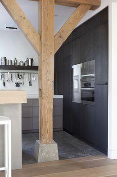 woonboerderij © Remy Meijers08 houten vloer overgang naar tegelvloer