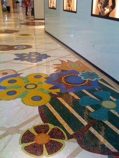 Mosaic floor in The Wynn, Las Vegas