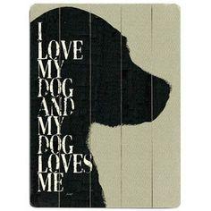 Dog Love Wall Art.