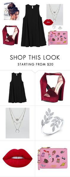 """""""Sin título #681"""" by malvinacabj on Polyvore featuring moda, RVCA, Chinese Laundry, DesignB London, Anne Sisteron, Lime Crime, Moschino y Zac Posen"""