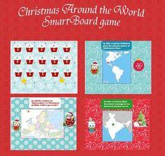 Christmas around the world Smartboard activity$$