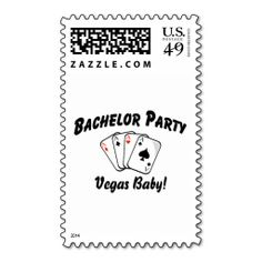 Vegas Bachelor Party Postage. Wanna make each letter a special delivery? Try to customize this great stamp template and put a personal touch on the envelope. Just click the image to get started!