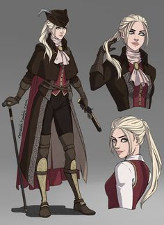 Post with 2310 votes and 137041 views. Tagged with gaming, dump, blood, bloodborne; Shared by Bloodborne Female Character Design, Character Design References, Character Creation, Character Design Inspiration, Character Art, Dnd Character Sheet, Low Key Portraits, Character Portraits, Character Outfits