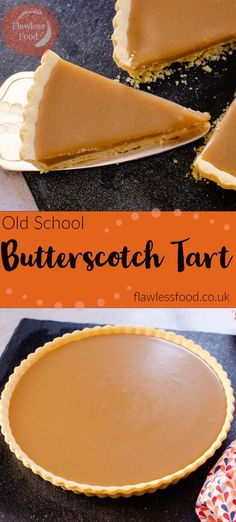 Who remembers this delicious Old School Butterscotch tart? I have fond memories of this fantastic rich sticky, butterscotch tart. Usually served up with whipped cream or custard in the school canteen Mini Desserts, Grilled Desserts, Easy Desserts, Plated Desserts, Old School Desserts, Classic Desserts, Lemon Desserts, Butterscotch Tart, Tarte Caramel